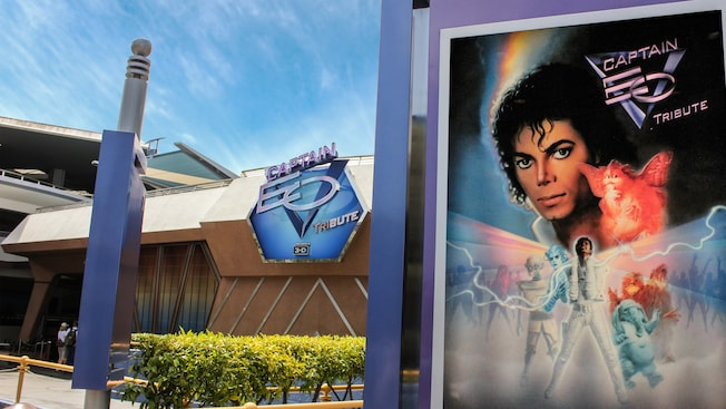 Captain EO movie poster at the Disneyland attraction
