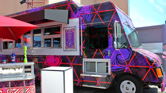 Mad T Party-themed Studio Catering food truck at Disney California Adventure Park