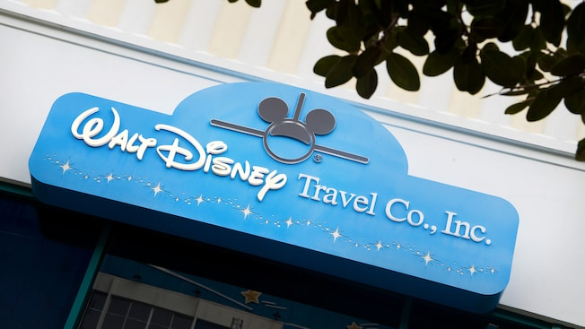 Sign for Walt Disney Travel Co., Inc. at the Disneyland Resort Downtown Disney location