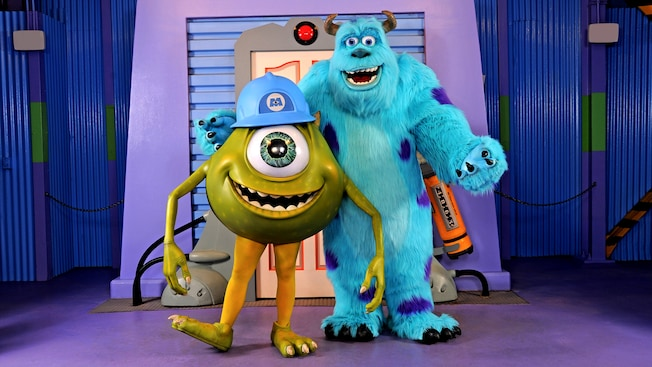 Mike and sulley on the streets of america walt disney world resort