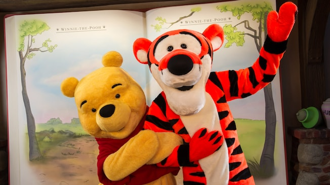Meet Winnie the Pooh and Tigger in Fantasyland