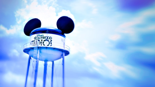Water tower with Mickey Mouse ears at Disney's Hollywood Studios