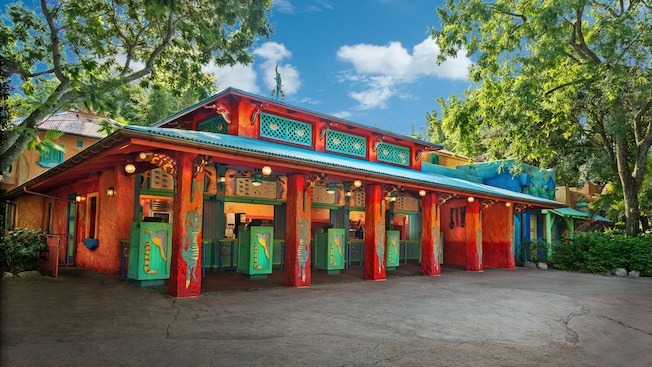 Exterior view of Flame Tree Barbecue in Disney's Animal Kingdom park