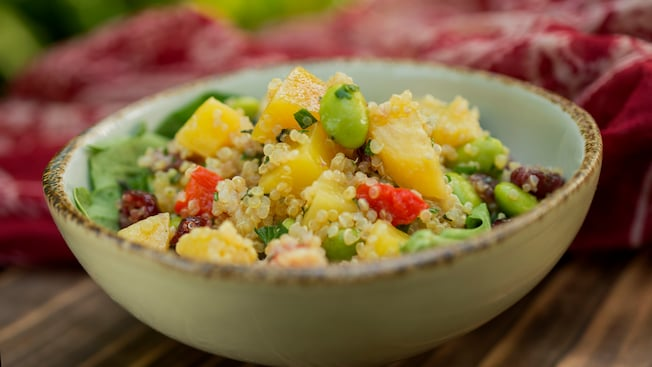 A quinoa, beets, edamame and citrus salad bowl at the new Gardens Kiosk at Disney's Animal Kingdom