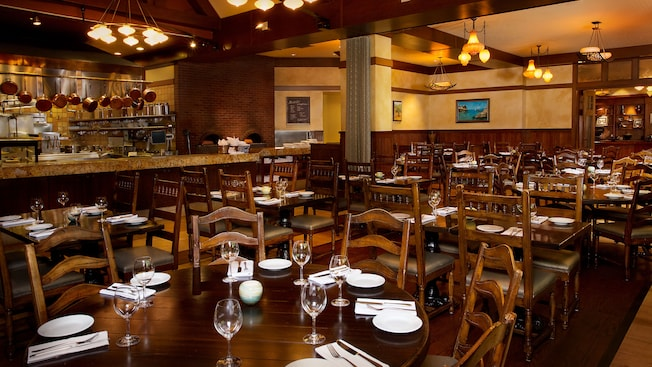 Dining area of Kouzzina by Cat Cora® at Disney's BoardWalk