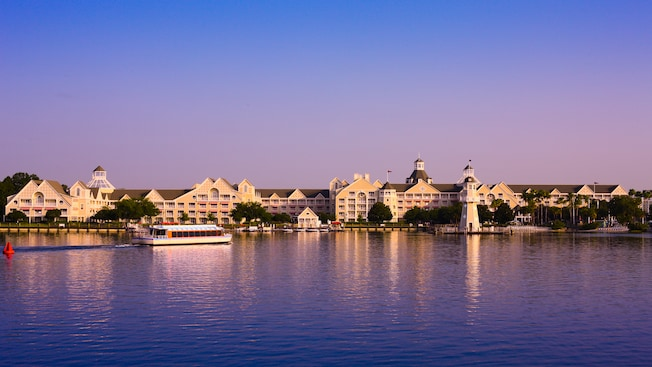 Disney's Yacht Club Resort as seen from Crescent Lake