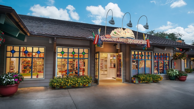 Disney's Wonderful World of Memories storefront at Downtown Disney Marketplace