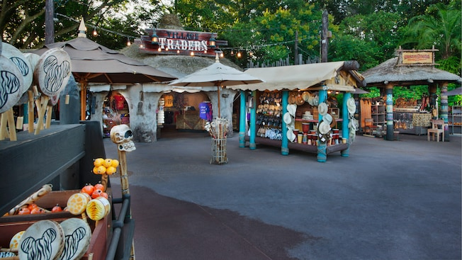 Village Traders and surrounding kiosks at The Outpost at Epcot World Showcase