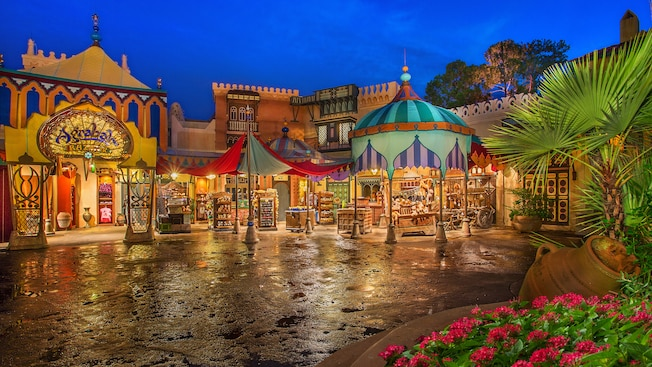 Exterior view of Agrabah Bazaar, a marketplace in Adventureland