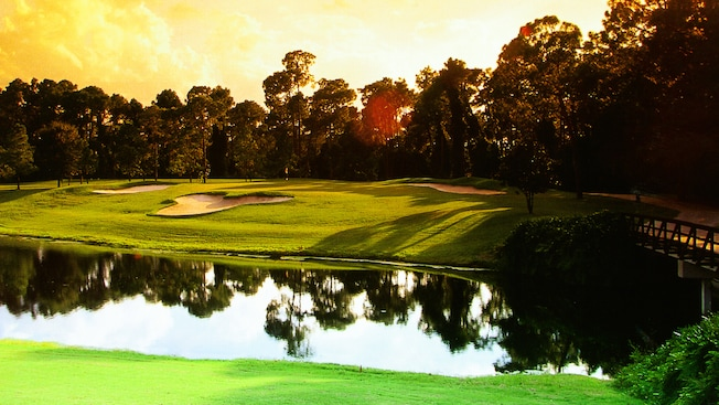 Sun rising over Disney's Magnolia Golf Course