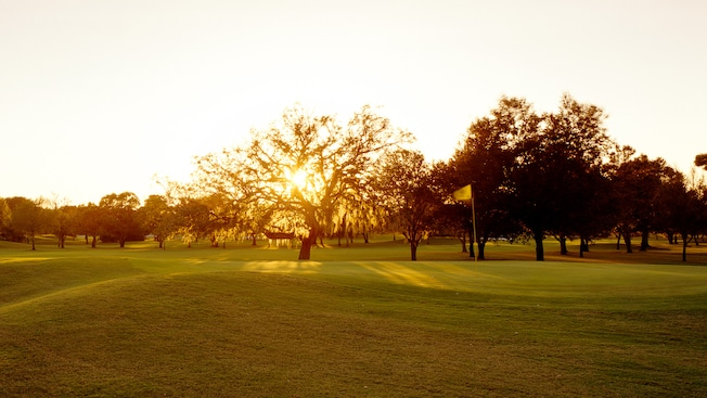 Sun rising over Disney's Oak Trail Golf Course