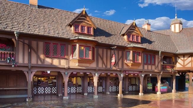 The old English exterior of The Friar's Nook restaurant is reminiscent of Robin Hood's Sherwood Forest