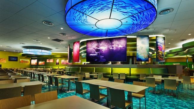Área de comidas del restaurante Landscape of Flavors en Disney's Art of Animation Resort