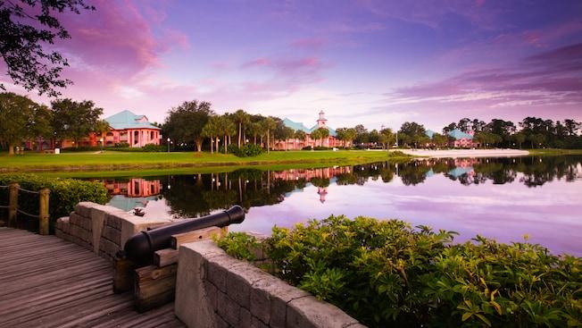 Panoramic view of Barefoot Bay and Disney's Caribbean Beach Resort
