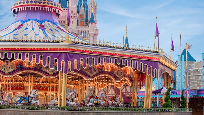 Prince Charming Regal Carrousel, Walt Disney Carousel, Cinderella's Golden Carrousel