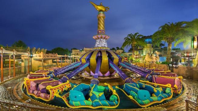 The magic carpets of aladdin magic kingdom attractions for Aladdin carpet ride magic kingdom