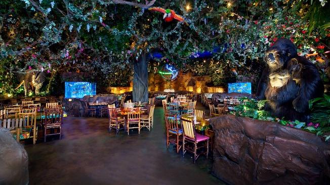 Resultado de imagen de rainforest cafe