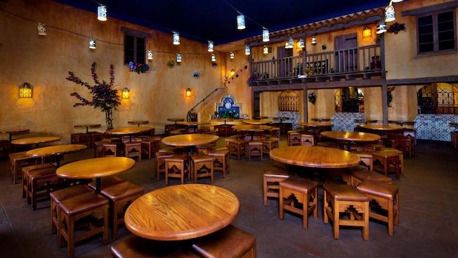 Dining area of Pecos Bill Tall Tale Inn and Café at Magic Kingdom park