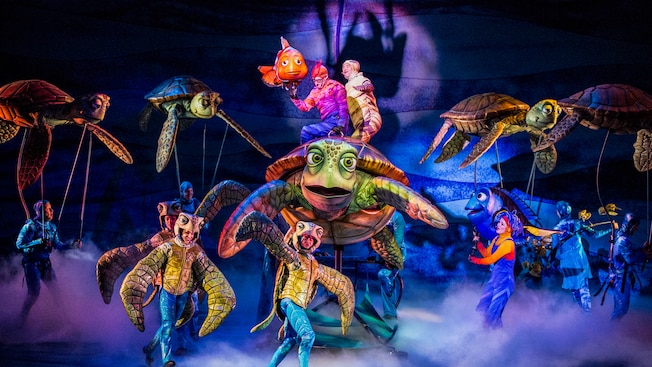 Image result for finding nemo the musical animal kingdom