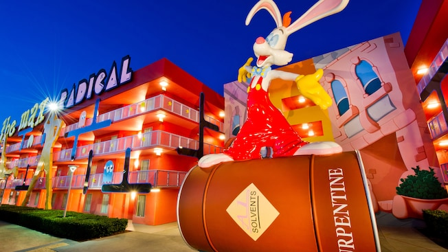 Roger Rabbit in the 1980s-themed area of Disney's Pop Century Resort