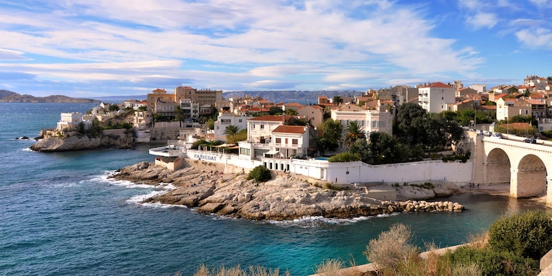The seaside city of Marseille, France