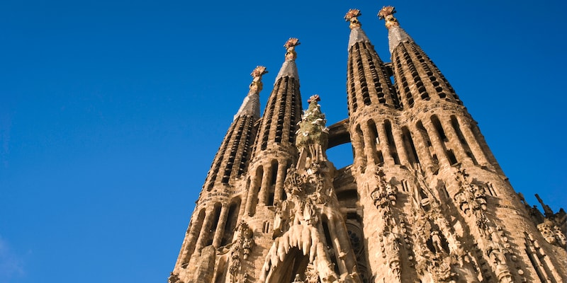 The spires of La Sagrada Família