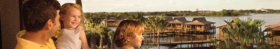 Família em hotel Resort Disney