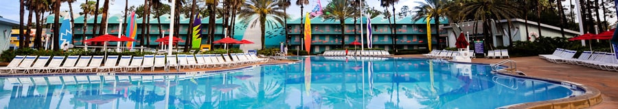 Beach-themed Surfboard Bay pool