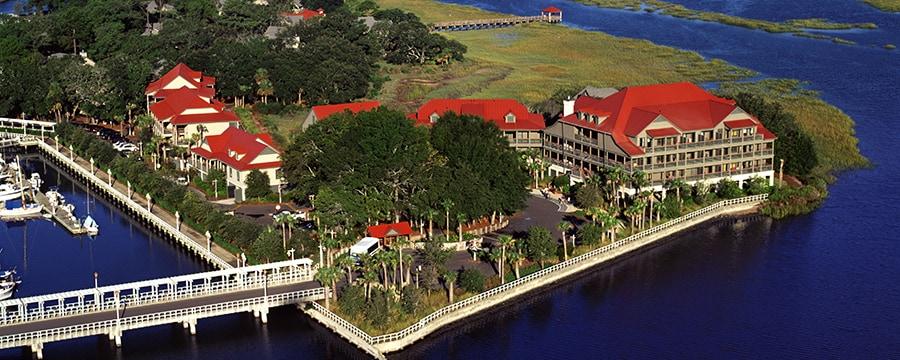 Aerial view of Disney's Hilton Head Island Resort in South Carolina