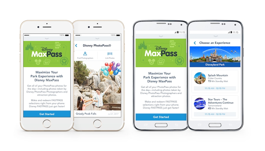 Screenshots of MaxPass App