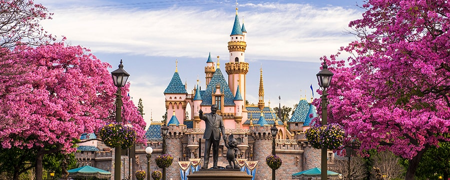 The majestic Sleeping Beauty Castle, the centerpiece of Disneyland Park