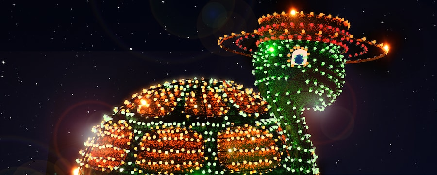 Giant Turtle with Lights in the Main Street Electrical Parade