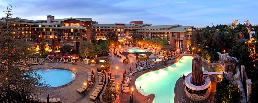 Three pools and an outdoor hot tub at Disney's Grand Californian Hotel & Spa