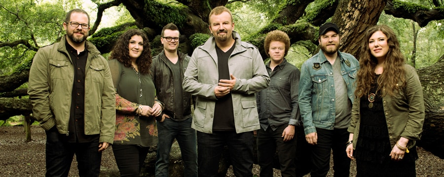 A outdoor portrait of the 7 member band, Casting Crowns