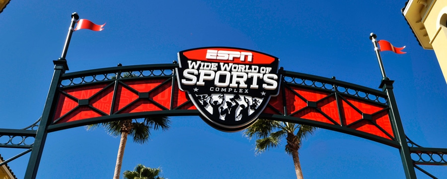Un panneau de bienvenue au ESPN Wide World of Sports Complex