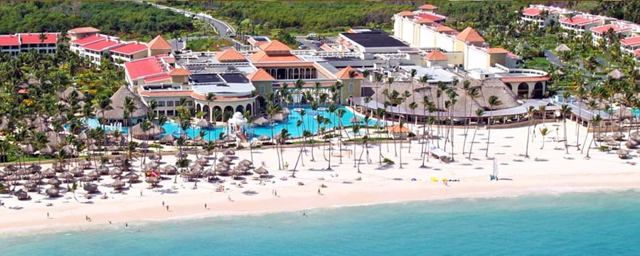 An aerial view of Paradisus Playa Real in the Dominican Republic