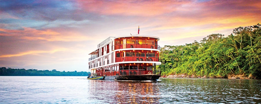 A riverboat on the Amazon River