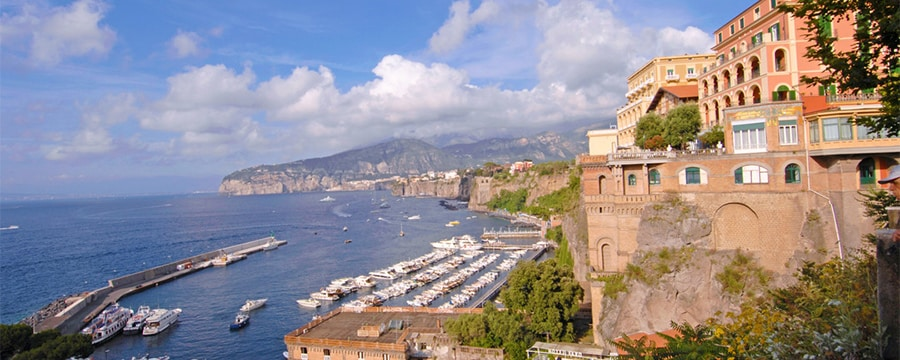 The coastline of Naples, Italy