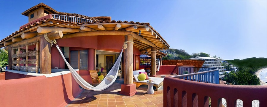 The veranda of a room at Club Intrawest — Zihuatanejo, Mexico