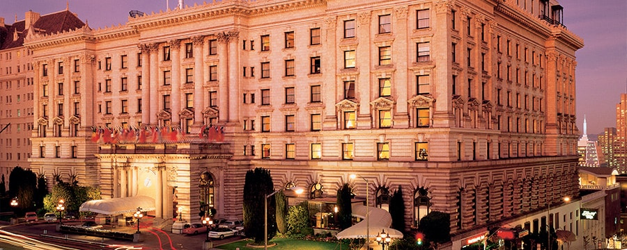 The exterior of The Fairmont San Francisco Hotel