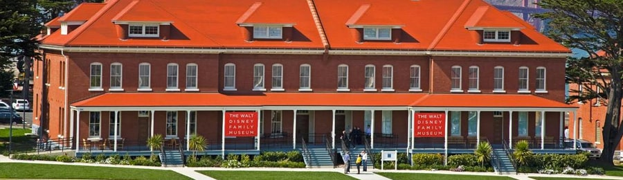 The exterior of the Walt Disney Family Museum in San Francisco, California