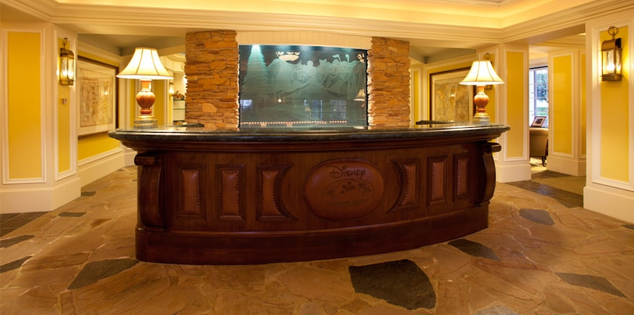 The Disney Vacation Club Preview Center lobby at Walt Disney World Resort in Orlando, Florida