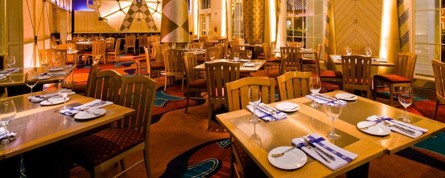 Dining area of Flying Fish Café at Disney's BoardWalk area