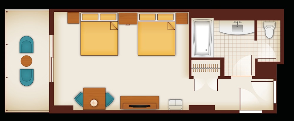 How Big Is A Queen Size Bed.Floor Plan Of A Standard Room With 2 Queen Size Beds