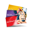 Thumbnail graphic shows 3 Walt Disney World theme park tickets featuring Mickey, Minnie and Donald Duck
