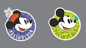 Graphic representations of the Mickey and Minnie Passholder buttons