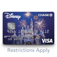 A Disney Visa credit card features a 60th Diamond Celebration design