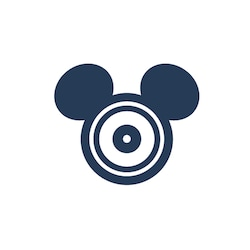 A computer disc with Mouse Ears, symbolizing PhotoPass
