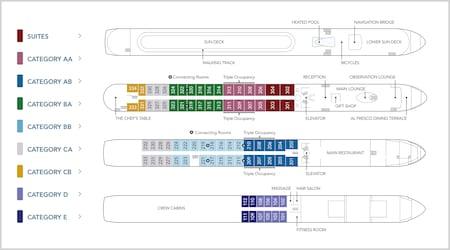 Deck plans chart