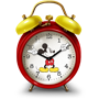 An icon of a Mickey alarm clock